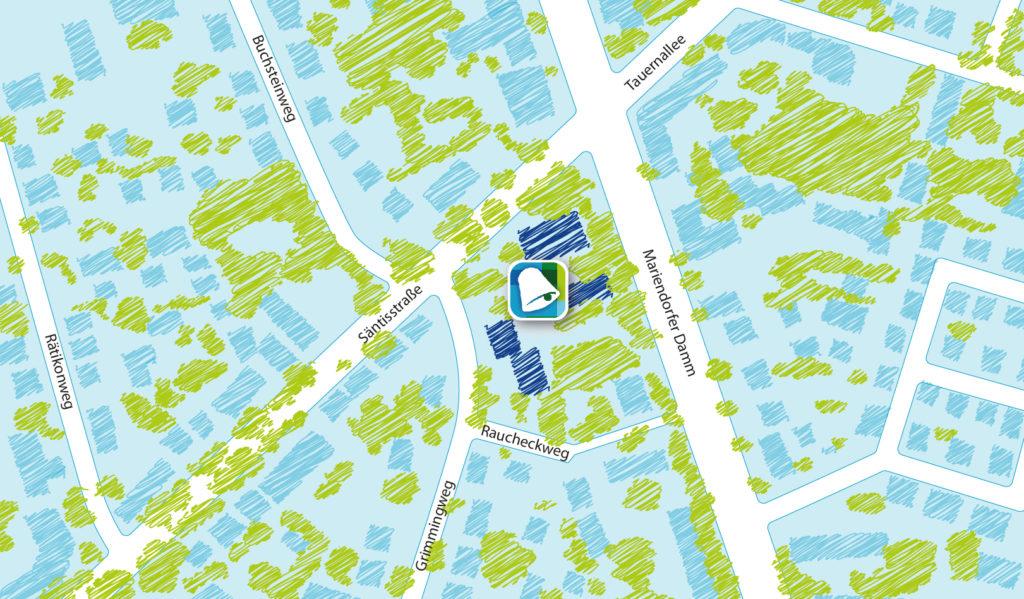 Karte des Standortes der Gemeinde