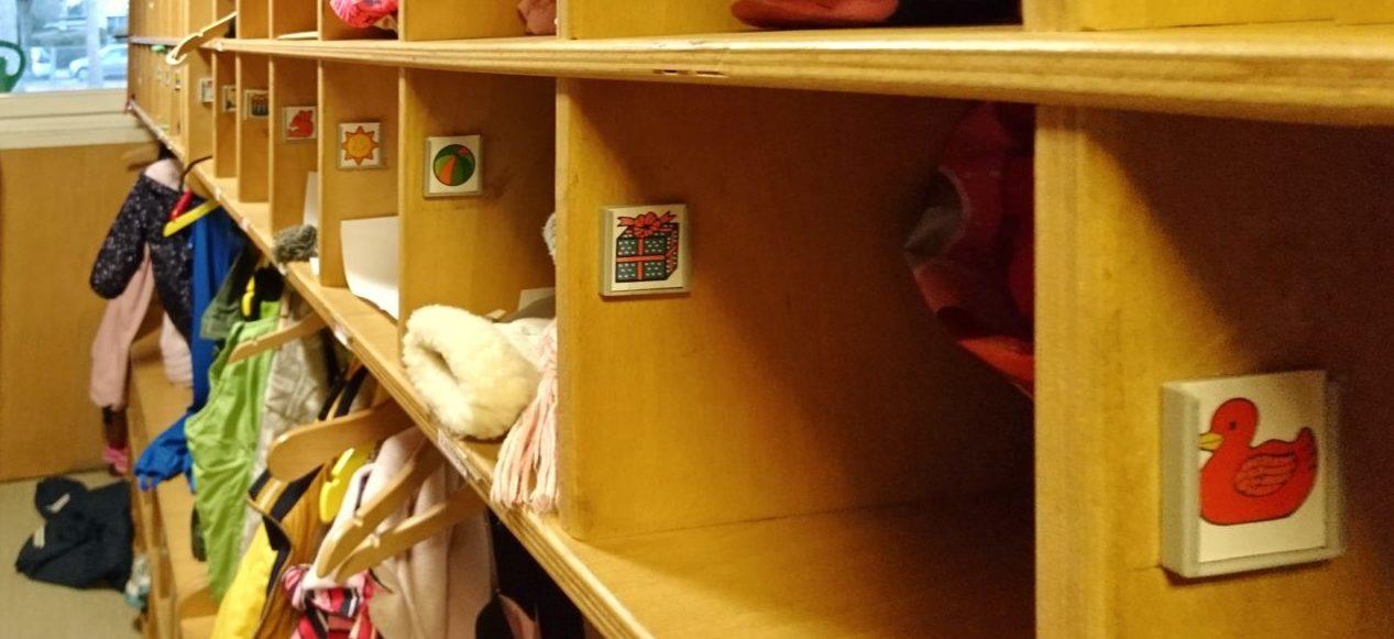 Garderobe Kindergarten Mariendorf. Impressionen