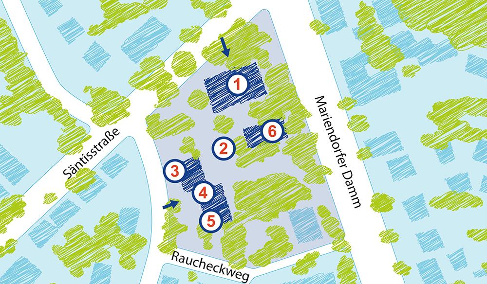 Orte von Mariendorf-Süd