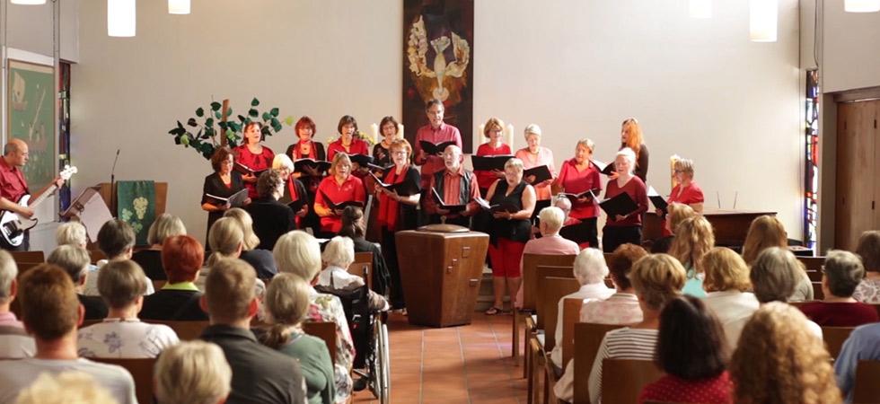 Der Chor, genannt Kantorei, von der Kirchengemeinde Mariendorf Süd