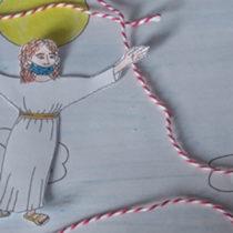 Für Kinder erzählt: Himmelfahrt + Basteln